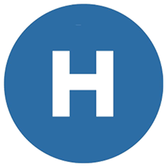 An icon of an H for hospital